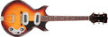 Musical Instruments:Electric Guitars, 1950s Magnatone Mark IV Sunburst Solid Body Electric Guitar,#53098. ...