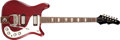 Musical Instruments:Electric Guitars, 1965 Epiphone Crestwood Custom Cherry Solid Body Electric Guitar,#252998....