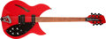 Musical Instruments:Electric Guitars, 1996 Rickenbacker 330/12 Red Semi-Hollow Body Electric Guitar,#G96462. ...