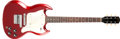 Musical Instruments:Electric Guitars, 1967 Gibson Melody Maker Sparkling Burgundy Solid Body ElectricGuitar, #6980. ...
