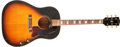 Musical Instruments:Acoustic Guitars, 1968 Gibson J-160 E Sunburst Acoustic Guitar, #500191....