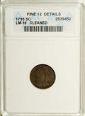 Early Half Dimes: , 1795 H10C --Cleaned--ANACS. Fine 12 Details. V-4, LM-10, R.3.Attributed by star 1 joined to the tip of the second curl, sta...