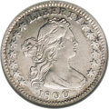 Early Half Dimes: , 1800 H10C AU50 NGC. V-1, LM-1, R.3. Luster brightens the devices ofthis nicely defined Draped Bust half dime. The borders ...