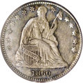 Seated Half Dimes: , 1860 H10C Transitional MS64 PCGS. Judd-267, Pollock-315, R.4. Inthis year the Mint moved the UNITED STATES OF AMERICA lege...