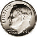 Proof Roosevelt Dimes: , 1954 10C PR67 Deep Cameo PCGS. A true Deep Cameo-certifiedRoosevelt dime with black-on-white contrast from a year in which...
