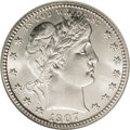 Barber Quarters: , 1907-D 25C MS66 NGC. This strongly lustrous Premium Gem has immenseeye appeal overall. The obverse is solidly struck and m...
