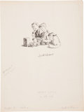 Miscellaneous, Garth Williams. Unused illustration, Stuart Little....(Total: 2 Items)