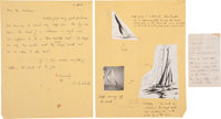 Garth Williams. ALS from E.B. White to Garth Williams with instructions on how to draw The Wasp<