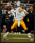 "Football Collectibles:Photos, Ben Roethlisberger ""SB XL Champs"" Signed Oversized Photograph...."