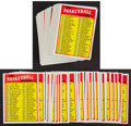 Basketball Cards:Lots, 1972-73 Topps Basketball Checklist Collection (114 cards). ...