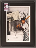 "Baseball Collectibles:Others, Willie Mays Signed ""The Catch"" Lithograph...."
