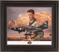 Baseball Collectibles:Others, Ted Williams Signed Lithograph. Hall of Fame slugger. ...