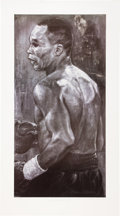 Boxing Collectibles:Autographs, Sugar Ray Leonard Signed Lithograph. ...
