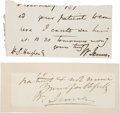 Autographs:Inventors, William Jenner Clipped Signatures (Two).... (Total: 2 Items)