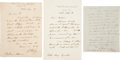 Autographs:Inventors, George Airy Autograph Letters (3) Signed,... (Total: 3 Items)