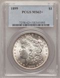 Morgan Dollars, 1899 $1 MS62+ PCGS. PCGS Population (1142/7838). NGC Census:(836/5440). Mintage: 330,846. Numismedia Wsl. Price for proble...
