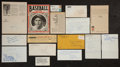 Baseball Collectibles:Others, Baseball Legends Signed Memorabilia Lot of 15....