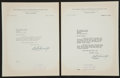 Baseball Collectibles:Others, 1955 William Harridge Signed Letters Lot of 2.. ...