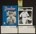 Baseball Collectibles:Others, New York Yankees Signed Memorabilia Lot of 4....