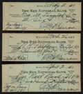 Baseball Collectibles:Others, Ed Barrow Signed Checks Lot of 3. ...