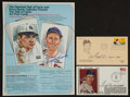 Baseball Collectibles:Others, Ted Williams Signed Memorabilia Lot of 3....