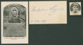 Baseball Collectibles:Others, Napoleon Lajoie Signed Index Card. ...