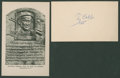 Baseball Collectibles:Others, Ty Cobb Signed Index Card....