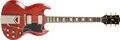 Musical Instruments:Electric Guitars, 1963 Gibson SG Les Paul Cherry Solid Body Electric Guitar, #108575....