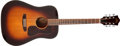 Musical Instruments:Acoustic Guitars, 1980s Guild D-25 SB Sunburst Acoustic Guitar, #DA109330. ...