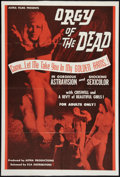 """Movie Posters:Horror, Orgy of the Dead (SCA, 1965). One Sheet (27"""" X 41""""). Horror.. ..."""