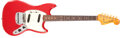 Musical Instruments:Electric Guitars, 1965 Fender Mustang Red Solid Body Electric Guitar, #L88296....