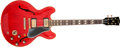 Musical Instruments:Electric Guitars, 1960 Gibson ES-345 Cherry Semi-Hollow Body Electric Guitar,#A35226. ...