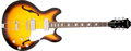 Musical Instruments:Electric Guitars, Recent Epiphone/ Elitist 1965 Casino/ VS Sunburst Semi-Hollow BodyElectric Guitar, #T604750. ...