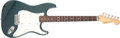 Musical Instruments:Electric Guitars, 1989 Fender Stratocaster Plus Blue Green Solid Body ElectricGuitar, #E965535. ...