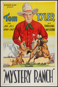 """Movie Posters:Western, Mystery Ranch (Bernard Ray, R- Late 1930s). Stock One Sheet (27"""" X 41""""). Western.. ..."""