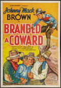"""Movie Posters:Western, Branded a Coward (Supreme, 1935). One Sheet (27"""" X 41""""). Western....."""