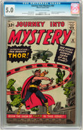Silver Age (1956-1969):Superhero, Journey Into Mystery #83 (Marvel, 1962) CGC VG/FN 5.0 Cream to off-white pages....