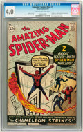Silver Age (1956-1969):Superhero, The Amazing Spider-Man #1 (Marvel, 1963) CGC VG 4.0 Cream tooff-white pages....