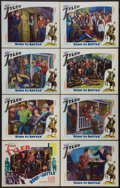 """Movie Posters:Western, Born to Battle (William Steiner, 1935). Lobby Card Set of 8 (11"""" X 14""""). Western.. ... (Total: 8 Items)"""