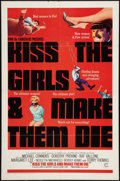 """Movie Posters:Action, Kiss the Girls and Make Them Die (Columbia, 1966). One Sheet (27"""" X41""""). Action.. ..."""