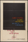 "Movie Posters:Romance, Love in the Afternoon (Allied Artists, 1957). One Sheet (27"" X 41""). Romance.. ..."