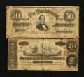Confederate Notes:1864 Issues, T66 $50 1864.. T67 $20 1864.. ... (Total: 2 notes)