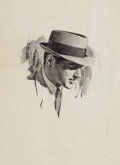 Mainstream Illustration, HARRY (HOMER) FREDMAN (American, b. 1923). Sketchbook of SevenWorks. Ink on paper. 24 x 18 in. (largest). Not signed. ...