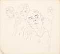 Mainstream Illustration, HARRY (HOMER) FREDMAN (American, b. 1923). Group of Four FemaleSketches. Pencil on board. 20 x 15 in. (largest). Not si...