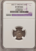 Seated Half Dimes, 1855-O H10C Arrows--Coorrosion--NGC Details. XF. NGC Census:(0/64). PCGS Population (0/54). Mintage: 600,000. Numismedia W...
