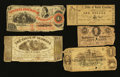 Obsoletes By State:Mixed States, Four Southern Obsoletes and a Confederate Note.. ... (Total: 5 notes)