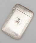 Silver Smalls:Match Safes, AN AMERICAN SILVER AND SILVER GILT MATCH SAFE . Webster Company,North Attleboro, Massachusetts, circa 1900. Marks: WCo ...
