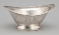 Silver Holloware, American:Bowls, AN AMERICAN SILVER HAND HAMMERED OVAL FOOTED BOWL . MeridenBritannia Company, Meriden, Connecticut, circa 1910. Marks: M...