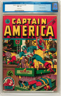 Golden Age (1938-1955):Superhero, Captain America Comics #28 (Timely, 1943) CGC FN+ 6.5 Off-white pages....