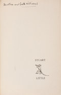 Books:Original Art, [Garth Williams, illustrator]. E. B. White. WILLIAMS' COPY, SIGNED.Stuart Little. New York: Harper & Brothers, 1945...